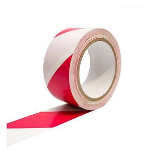 PVC Marking Tape 27m x 48mm (Red & White)
