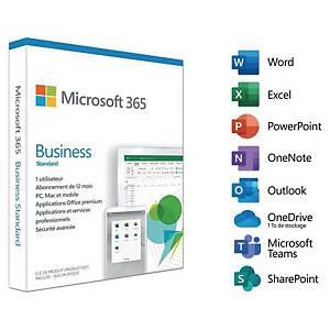 Logiciel Microsoft 365 Business Standard - 1 utilisateur - 1 an