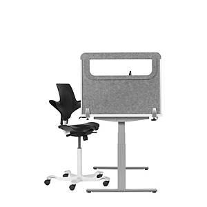 BE veiligheidsscherm zijkant P/A, H 60 x D 80 cm, lichtgrijs