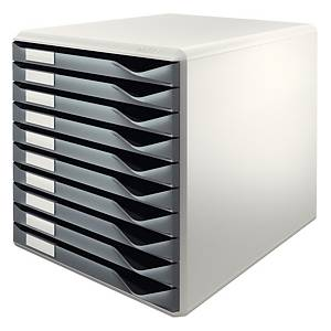 Leitz 5281 module de rangement 10 tiroirs gris