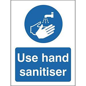 Use Hand Sanitiser Safety Sign Self Adhesive 150x200MM