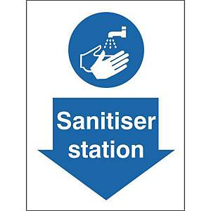 Sanitiser Station Safety Sign Semi Rigid 150x200MM