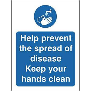 Help Prevent Safety Sign Self Adhesive 150x200MM