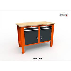 Profesionálny dielenský stôl Malow so zásuvkami SWT 12/7
