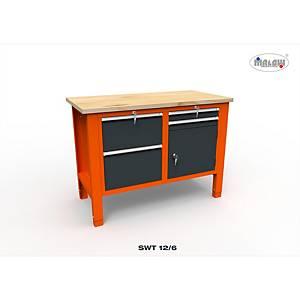 Profesionálny dielenský stôl Malow so zásuvkami SWT 12/6