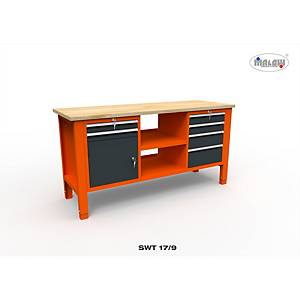 Profesionálny dielenský stôl Malow so zásuvkami SWT 17/9