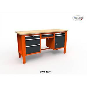 Profesionálny dielenský stôl Malow so zásuvkami SWT 17/11
