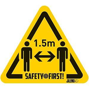 Pack de 4 sinais de piso  distância 1,5smetros  - 150X140MM