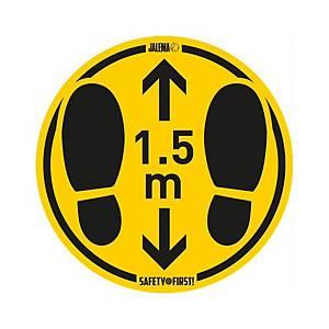 Pack de 4 señales de suelo liso  Turno 1,5 m  - 150 X 140 mm