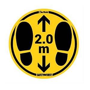 Pack de 2 sinais de piso rugoso  turno 2M - 350MM