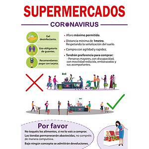 Carteles supermercado COVID-19 A3 PVC - 300 x 420 mm