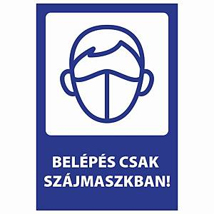 PK10 STICKER USE MASK 205X300MM HU