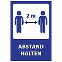 COVID-19 Informations-Warnzeichen  ABSTAND HALTEN , Größe 205x300 mm, 10 Stück