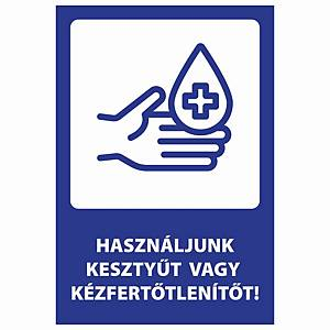 PK10 STICKER USE GLOVES 205X300MM HU