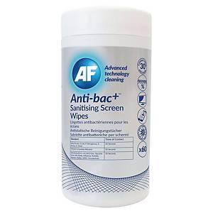 AF Anti-bac+ näytöndesinfiointiliinat, 1kpl= 60 liinaa