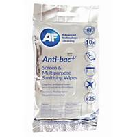 PK25 AF ANTIBAC SANITIZING SCREEN WIPES