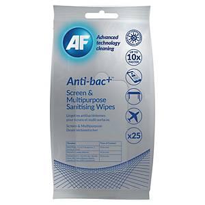 Lingette antibactérienne désinfectante - paquet de 25