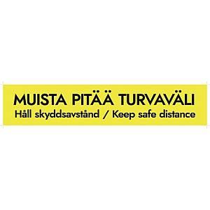 Lattiatarra Turvaväli 10X50cm, 1 kpl = 5 tarraa