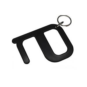 KEY RING WITH HIGIENIC KEY BLK