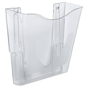 Wall DocuPockets® Wand-Prospekthalter mit SteriTouch®, vertikal, transparent