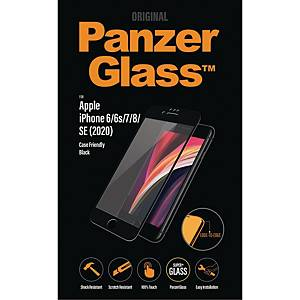 Beskyttelsesglas PanzerGlass Apple iPhone SE (2020)/6/7/8, case friendly, sort