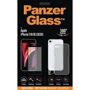 Beskyttelsesglas PanzerGlass Apple iPhone SE (2020)/6/7/8 med Clearcase