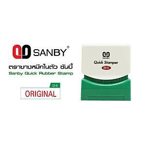 SANBY O-5 Self Inking Stamp   Original   English Language - Red