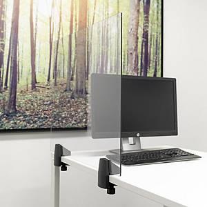 Veiligheidsscherm voor op een bureau of tafel, plexiglas, B 75 x H 58 cm