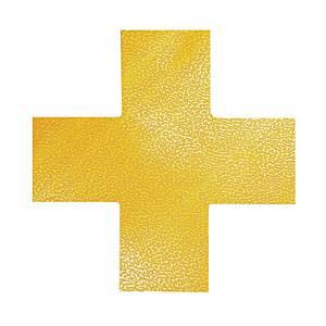 Znacznik podłogowy DURABLE 170104 kształt krzyż, żółty, 10szt