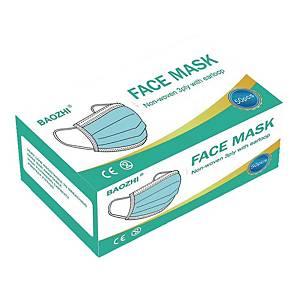 Jednorazowa maska higieniczna 3-warstwowa, niebieska, opakowanie 50 sztuk