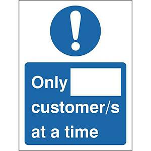H&S Sign Customer Numbers 150X200 Window Cling Film