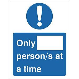 H&S Sign Number Of Persons 150X200 Self Adhesiv Vinyl