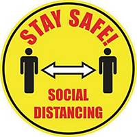 Social Distancing Floor Marker  - Yellow Floor Marking With Anti-Slip Laminate