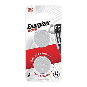 Energizer CR2016BP2 Lithium Battery 3V - 2pcs