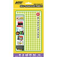 Adhesive Labels Diameter 8MM Fluorescent Green - Box of 2600