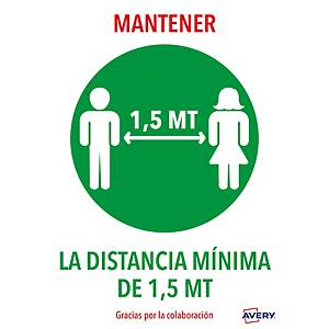 PK2 ETIQ ADH  MANTENER DISTANCIA 1,5M A4