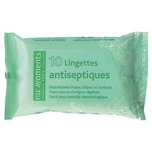 Lingette antiseptique désinfectante mains - paquet de 10