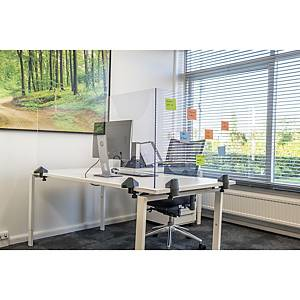 Safety screen double desk-table plexiglass 58x120