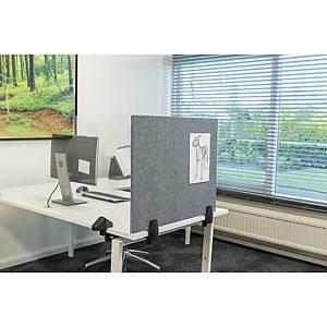 Veiligheidsscherm voor dubbel bureau/tafel, met whiteboard en pinbord, 58x160cm