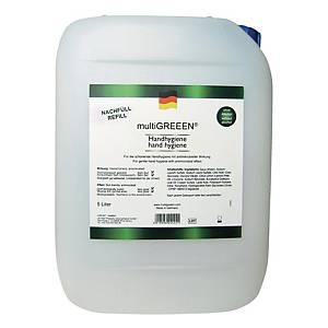 multiGREEEN® Handhygiene antimikrobiell wirksam, ohne Alkohol, 5 Liter