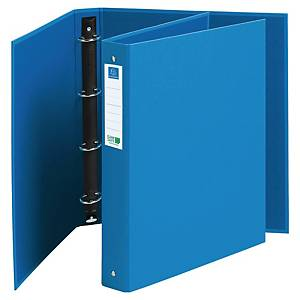 Exacompta Cleansafe Ring binder, 4 Rings 30mm Blue