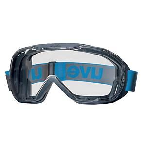 Vollsichtbrille UVEX Megasonic, Scheibentönung farblos, mit Kopfband