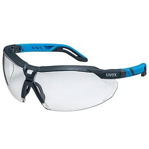 Bügelbrille UVEX Pheos I-5, Scheibentönung farblos, blau/grau