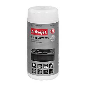 Activejet Mehrzweck-Reinigungstücher, Packung mit 100 Stück
