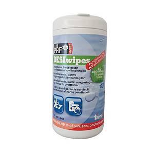 PRF DesiWipes desinfioiva puhdistusliina 1kpl=100 liinaa