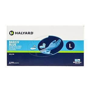 HALYARD* BASICS* Eldobható nitril kesztyű, méret L, 200 darab