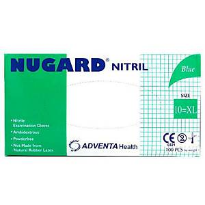 ADVENTA NUGARD® Einweg-Nitril-Handschuhe, Größe XL, 100 Stück
