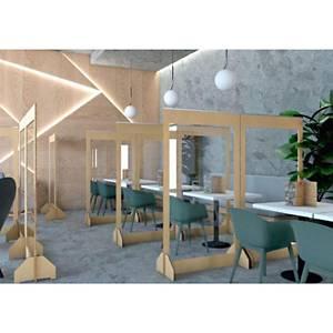 Floor standing protective screen 1800 x 1000mm - lisocore