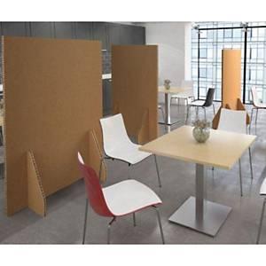 Floor standing protective screen 1800 x 1200mm - honeycomb