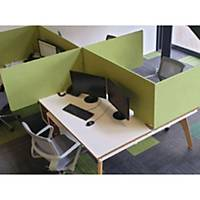 Free-standing high acoustic 2-sided desktop screen 1000mm wide - apple green